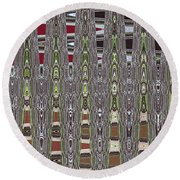 Dead Tree In The Forest Abstract Round Beach Towel