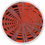 Dead Tree Oval #1 Abstract Round Beach Towel