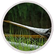 Deadwood And Pine Reflections Round Beach Towel