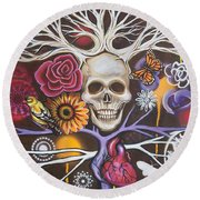 Death Becomes Me Round Beach Towel