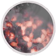 Death Blooms Round Beach Towel