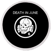 Death In June Round Beach Towel