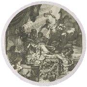 Death Of Dido, Gerard De Lairesse, 1668 Round Beach Towel