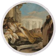 Death Of Dido Round Beach Towel