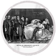Death Of President Lincoln Round Beach Towel