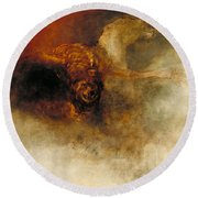 Death On A Pale Horse Round Beach Towel
