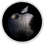 Death Star Apple Round Beach Towel