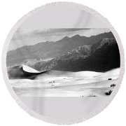 Death Valley 1977 Round Beach Towel