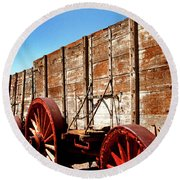 Death Valley Borax Wagons Round Beach Towel