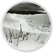 Death Valley Brush Round Beach Towel