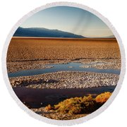 Death Valley California Round Beach Towel