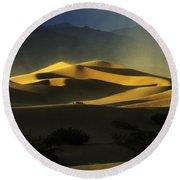 Death Valley California Symphony Of Light 4 Round Beach Towel
