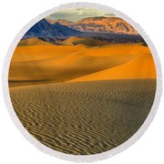Death Valley Golden Hour Round Beach Towel