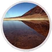 Death Valley Lake Round Beach Towel