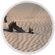 Death Valley Morning Round Beach Towel