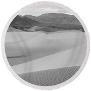 Death Valley Panoramic Sand Dunes Round Beach Towel