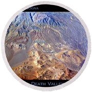 Death Valley Planet Earth Round Beach Towel