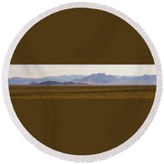 Death Valley Range Round Beach Towel
