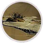 Death Valley Salt Round Beach Towel