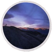 Death Valley Sunrise Round Beach Towel