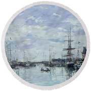 Deauville The Dock Round Beach Towel