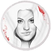 Debra Morgan Portrait - Dexter Round Beach Towel