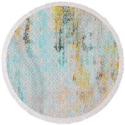 Decadent Urban Light Colored Patterned Abstract Design Round Beach Towel