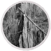 Decayed Stump Round Beach Towel