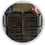 Declaration Of The Rights Of Man And Citizen Round Beach Towel