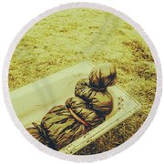 Decomposition Of A Murder Mystery Round Beach Towel