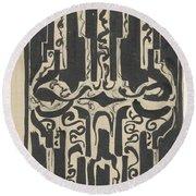 Decorative Design, Carel Adolph Lion Cachet, 1874 - 1945 H Round Beach Towel
