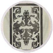 Decorative Design, Carel Adolph Lion Cachet, 1874 - 1945 Jd Round Beach Towel
