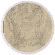 Decorative Design, Carel Adolph Lion Cachet, 1874 - 1945 U Round Beach Towel