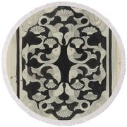 Decorative Design With Fish, Carel Adolph Lion Cachet, 1942 Round Beach Towel