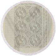 Decorative Design With Geometric Motif, Carel Adolph Lion Cachet, 1874 - 1945 Round Beach Towel