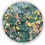 Decorative Endpaper Round Beach Towel