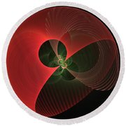 Decorative Globe Of Red Round Beach Towel