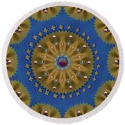 Decorative Pasta Collage Round Beach Towel