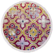 Decorative Tiles Islamic Motif  Round Beach Towel