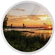 Dectur Bridge Round Beach Towel