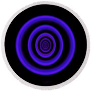 Deep Blue Round Beach Towel