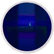 Deep Blue Sea Round Beach Towel