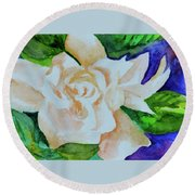 Deep Gardenia Round Beach Towel