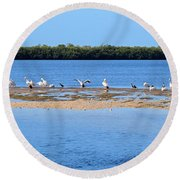 Deep Haven Round Beach Towel