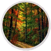 Deep In The Forest Round Beach Towel