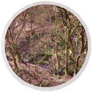 Deep In Woods Round Beach Towel