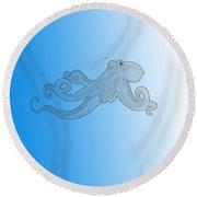 Deep Ocean Animals - Octopus 20 Round Beach Towel