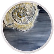 Deep Ocean Seashell Round Beach Towel
