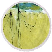 Deep Roots Round Beach Towel