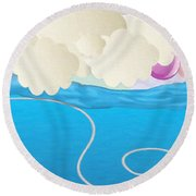 Deep Sea Fishing Round Beach Towel